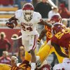 Oklahoma\'s Brennan Clay (24) carries the ball in the fourth quarter during a college football game between the University of Oklahoma (OU) and Iowa State University (ISU) at Jack Trice Stadium in Ames, Iowa, Saturday, Nov. 3, 2012. OU won, 35-20. Photo by Nate Billings, The Oklahoman
