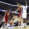 NCAA TOURNAMENT / COLLEGE BASKETBALL / ELITE 8 / UNIVERSITY OF OKLAHOMA / OU: North Carolina\'s Tyler Hansbrough (50) steals the ball from Oklahoma\'s Blake Griffin (23) during the first half in the Elite Eight game of NCAA Men\'s Basketball Regional between the University of North Carolina and the University of Oklahoma at the FedEx Forum on Sunday, March 29, 2009, in Memphis, Tenn. PHOTO BY CHRIS LANDSBERGER, THE OKLAHOMAN ORG XMIT: KOD