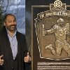 Hall of Fame running back, Pittsburgh Steelers\' Franco Harris stands on the spot of the
