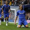 Photo -   Chelsea's Fernando Torres, right, celebrates his goal against Newcastle United, during their English Premier League soccer match at Stamford Bridge, London, Saturday, Aug. 25, 2012. (AP Photo/Sang Tan)