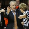 Oklahoma State coach Jim Littell argues his case with an official during a women\'s college basketball game between Oklahoma State and West Virginia at Gallagher-Iba Arena in Stillwater, Okla., Tuesday, Jan. 29, 2013. West Virginia won 67-61. Photo by Bryan Terry, The Oklahoman