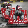 New recruits drive the go-carts at Gatti Town during Soldiers Day Out, Friday, December 21, 2012. Edmond/North OKC Blue Star Mothers will be taking the soldiers who can\'t go home for Christmas around the metro for a day of fun. Photo By David McDaniel/The Oklahoman