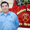 Photo - Hunter Hays, 20, is a volunteer fire fighter for Monkey Island, OkK, and also a state certified first responder. Photo provided