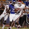 Oklahoma\'s Dominique Whaley (8) scores a touchdown during the college football game between the University of Oklahoma Sooners (OU) and the University of Kansas Jayhawks (KU) at Memorial Stadium in Lawrence, Kansas, Saturday, Oct. 15, 2011. Photo by Bryan Terry, The Oklahoman