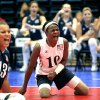 UCO / U.S. / USA / UNITED STATES / CELEBRATION: USA\'s Kari Miller (10) and Nichole Millage celebrates a point during the 2010 Sitting Volleyball World Championships Women\'s gold medal match between USA and China, Sunday, July 18, 2010, at the University of Central Oklahoma, in Edmond, Okla. Photo by Sarah Phipps, The Oklahoman. ORG XMIT: KOD