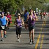 Runners make their way south on Classen near NW 63rd St. during the Oklahoma City Memorial Marathon in Oklahoma City, Sunday, April 28, 2013. Photo by Garett Fisbeck, For The Oklahoman