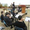The Boulevard Brass Quintet plays as the University of Central Oklahoma Veteran Support Alliance honors veterans with a ceremony on Veterans Day at UCO\'s Plunkett Park in Edmond, OK, Friday, Nov. 11, 2011. By Paul Hellstern, The Oklahoman