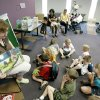 Carol Hunter reads to a group of children at the Edmond Library in Edmond, May 21, 2007. Oklahoman Photo By Steve Gooch