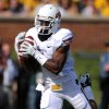 Oklahoma State running back Joseph Randle catches a 13-yard touchdown pass during the first half of an NCAA college football game against Missouri Saturday, Oct. 22, 2011, in Columbia, Mo. (AP Photo/L.G. Patterson)