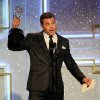"""Photo - Billy Miller accepts the award for outstanding lead actor in a drama series for """"The Young and the Restless"""" at the 41st annual Daytime Emmy Awards at the Beverly Hilton Hotel on Sunday, June 22, 2014, in Beverly Hills, Calif. (Photo by Chris Pizzello/Invision/AP)"""