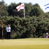 Photo - Austin Ernst of the US plays a shot onto the 9th green during the second day of the Women's British Open golf championship on the Royal Birkdale Golf Club, Southport, England, Friday July 11, 2014. (AP Photo/Scott Heppell)