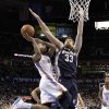 Memphis\' Marc Gasol (33) shuts down Oklahoma City\'s Eric Maynor (6) during the NBA basketball game between the Oklahoma City Thunder and the Memphis Grizzlies at Chesapeake Energy Arena on Wednesday, Nov. 14, 2012, in Oklahoma City, Okla. Photo by Chris Landsberger, The Oklahoman