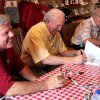 From left, Steve Davis, Jimmy Harris and Claude Arnold were three of the former OU quarterbacks at Sunday's book signing. - Photo provided by Greg Jackson ORG XMIT: 0906072354178995