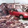 MAY 3, 1999 TORNADO: Tornado damage: Area of NW 27TH AND I-35 IN MOORE OKLA. Oklahoman reporter Nolan Clay\'s house on the corner of Bellaire and Cedar Lane in Moore. (Nolans Clay\'s housing addition Highland Park) Just south of the First Baptist Church.