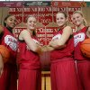 Oklahoma women\'s basketball players, from left, Jasmine Hartman, Jenny Vining, Whitney Hand and Lauren Willis pose for a photo in January 2009. PHOTO BY STEVE GOOCH, The Oklahoman Archives