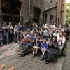 Fans watch a World Cup soccer match between the United States and Germany Thursday, June 26, 2014, from an alley in Seattle\'s historic Pioneer Square neighborhood.