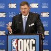 Clay Bennett talks during a press conference held in Oklahoma City, Wednesday, July 2, 2008, after announcing that the Seattle Sonics will be moving to Oklahoma City. BY BRYAN TERRY, THE OKLAHOMAN