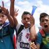 Photo - Costa Rica soccer fans celebrate their team's World Cup victory over Italy in San Jose, Costa Rica, Friday, June 20, 2014. Costa Rica won 1-0 in Brazil. (AP Photo/Enrique Martinez)