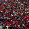 Supporters of Venezuela\'s President Hugo Chavez attend a campaign rally in Valencia, Venezuela, Wednesday, Oct. 3, 2012. Chavez is running for re-election against opposition candidate Henrique Capriles in presidential elections on Oct . 7. (AP Photo/Rodrigo Abd)