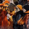 OSU fans are silent after an OU score late in the fourth quarter during the Bedlam college football game between the University of Oklahoma Sooners (OU) and the Oklahoma State University Cowboys (OSU) at Boone Pickens Stadium in Stillwater, Okla., Saturday, Nov. 27, 2010. OU won, 47-41. Photo by Nate Billings, The Oklahoman