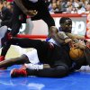 Photo - Portland Trail Blazers guard Mo Williams, front right, fights for a loose ball with Los Angeles Clippers guard Darren Collison during the first half of a preseason NBA basketball game, Friday, Oct. 18, 2013, in Los Angeles. (AP Photo/Gus Ruelas)