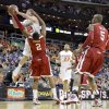 OSU\'s Keiton Page is fouled by Steven Pledger in the first half of the college basketball game during the men\'s Big 12 Championship tournament at the Sprint Center on Wednesday, March 10, 2010, in Kansas City, Mo. Photo by Bryan Terry, The Oklahoman