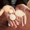 Carl Zoch\'s brother Thomas Zoch picked these hailstones off of Route 66 in Yukon.