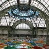 Photo -   View of the creation of contemporary artist Daniel Buren in the Grand Palais during the opening of ground-breaking Monumenta exhibit in Paris, Wednesday May 9, 2012. Monumenta, the hugely-popular annual installation project that's in its fifth year, dares an artist of international statue to