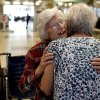 Sadie Fanali , left, and Lorraine Thomas meet for the first time at Will Roger World Airport, Friday, June 14, 2013, in Oklahoma City. The pair have been pen pals since 1932. Photo by Sarah Phipps, The Oklahoman