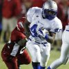 Carl Albert\'s James Davis (22) tries to tackle Guthrie\'s Clayton Smith (40) the first half in high school football at Jim Harris Stadium in Midwest City, Oklahoma on Thursday October 16, 2008. BY STEVE SISNEY, THE OKLAHOMAN