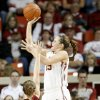 Oklahoma\'s Whitney Hand shoots the ball over Iowa State\'s Whitney Williams during a 2009 game vs. Iowa State. PHOTO BY BRYAN TERRY, The Oklahoman Archives