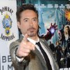 Actor Robert Downey Jr. attends the premiere of