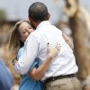 President Barack Obama hugs Plaza Towers Elementary Principal Amy Simpson in Moore, Okla., on Sunday, May 25, 2013. Photo by Bryan Terry The Oklahoman