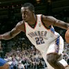 Oklahoma City\'s Jeff Green dribbles in on Orlando\'s Matt Barnes during the NBA basketball game between the Orlando Magic and the Oklahoma City Thunder at the Ford Center in Oklahoma City, on Sunday, Nov. 8, 2009. By John Clanton, The Oklahoman ORG XMIT: KOD