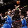 Dallas\' Dirk Nowitzki (41), Oklahoma City\'s Serge Ibaka (9) and Dallas\' Jason Kidd (2) chase a rebound during the NBA basketball game between the Oklahoma City Thunder and the Dallas Mavericks at Chesapeake Energy Arena in Oklahoma City, Monday, March 5, 2012. The Thunder won, 95-91. Photo by Nate Billings, The Oklahoman