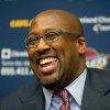 Cleveland Cavaliers new head coach Mike Brown laughs during a press conference at the team\'s headquarters Wednesday, April 24, 2013, in Independence, Ohio. (AP Photo/Jason Miller)