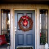 COMING SOON....Janie Axton\'s front door was decorated with a wreath and heart. (Photo by Helen Ford Wallace).