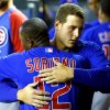 Photo - FILE - Chicago Cubs' Alfonso Soriano, left, gets a hug from Anthony Rizzo prior to a baseball game against the Arizona Diamondbacks on Monday, July 22, 2013 file photo taken in Phoenix. Chicago players were upset about the news of teammate Alfonso Soriano's impending trade to the Yankees, and manager Dale Sveum thought that played a part in the Cubs' 3-1 loss to the Arizona Diamondbacks Thursday July 255, 2013.  (AP Photo/Ross D. Franklin, File)