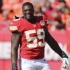 FILE - In this Oct. 7, 2012, file photo, Kansas City Chiefs inside linebacker Jovan Belcher smiles before an NFL football game against the Baltimore Ravens in Kansas City, Mo. Police say Belcher fatally shot his girlfriend early Saturday, Dec. 1, 2012, in Kansas City, then drove to Arrowhead Stadium and committed suicide in front of his coach and general manager. (AP Photo/Ed Zurga, File)