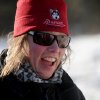 Iditarod musher Aliy Zirkle, from Two Rivers, Alaska, reacts to the problems with trail leaving the Koyuk checkpoint during the 2014 Iditarod Trail Sled Dog Race on Sunday, March 9, 2014 in Koyuk, Alaska. (AP Photo/The Anchorage Daily News, Bob Hallinen)