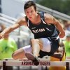 Marlow\'s Cole Smiley wins the boys 110 meter high hurdles at the 3A and 4A state championship track meet on Saturday, May 5, 2012, in Ardmore, Okla. Photo by Steve Sisney, The Oklahoman