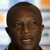 Ghana\'s head coach Kwesi Appiah speaks during a press conference in Nelspruit, South Africa, Tuesday Feb. 5, 2013, ahead of their African Cup of Nations semifinal soccer match against Burkina Faso on Wednesday. (AP Photo/Themba Hadebe)