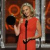 Jessica Lange accepts the award for outstanding supporting actress in a miniseries for