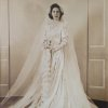 Like many wedding during World War II, Mary Love Wornom was married while her husband-to-be was home for a short leave in August 1942. But unlike most dresses during that time, Wornom wore a long sleeve satin gown with buttons down the back.