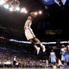 Oklahoma City\'s Russell Westbrook (0) dunks during the NBA basketball game between the Oklahoma City Thunder and the Denver Nuggets, Friday, April 8, 2011, at the Oklahoma City Arena.. Photo by Sarah Phipps, The Oklahoman