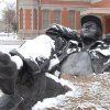 Bronze Statue between OU Art Museum and Holmberg Hall (OU Campus) Taken 2/22/06 Community Photo By: Todd Ballje Submitted By: Todd, Norman