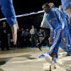 Oklahoma City\'s Kevin Durant is introduced before the NBA basketball game between the Oklahoma City Thunder and the Milwaukee Bucks at the Oklahoma City Arena, Wednesday, April 13, 2011. Photo by Bryan Terry, The Oklahoman