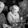 """This image released by Paramount Pictures shows, from left, Dennis McCoig as Uncle Verne, June Squibb as Kate Grant and Bruce Dern as Woody Grant in a scene from the film """"Nebraska."""" Squibb was nominated for an Academy Award for best supporting actress on Thursday, Jan. 16, 2014, for her role in the film. The 86th Academy Awards will be held on March 2. (AP Photo/Paramount Pictures, Merie W. Wallace)"""