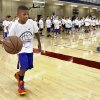 Jay Fair, 8, attends the Kevin Durant Youth Basketball Camp on the campus of the University of Oklahoma (OU) on Friday, Aug. 9, 2013 in Norman, Okla. Photo by Steve Sisney, The Oklahoman