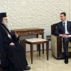 In this photo released by the Syrian official news agency SANA, Syrian President Bashar Assad, right, meets with Patriarch John Yazigi, the Eastern Orthodox Patriarch of Antioch and All the East, in Damascus, Syria, Monday, Feb. 11, 2013. Syrian rebels captured the country\'s largest dam on Monday after days of intense clashes, giving them control over water and electricity supplies for much of the country in a major blow to President Bashar Assad\'s regime. (AP Photo/SANA)